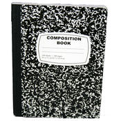 Composition Book Black and White Marble 100 Sheets