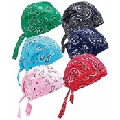 Diamond Plate Assorted Paisley Cotton Skull Cap Set
