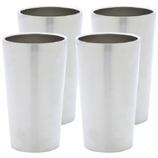 Maxam® Stainless Steel 4 piece Double Wall 13oz Tumbler Set