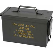 Classic Safari Large Metal Replica Ammo Box