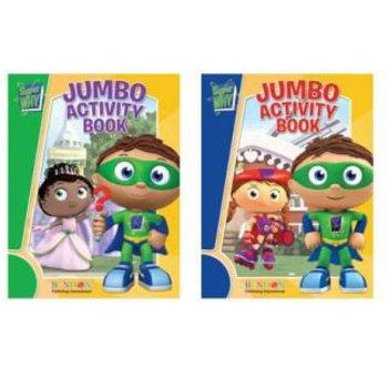 Wholesale Super Why Jumbo Coloring Activity Book (SKU 394304) DollarDays