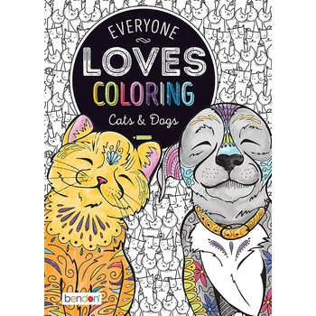 Cats And Dogs Adult Coloring Book