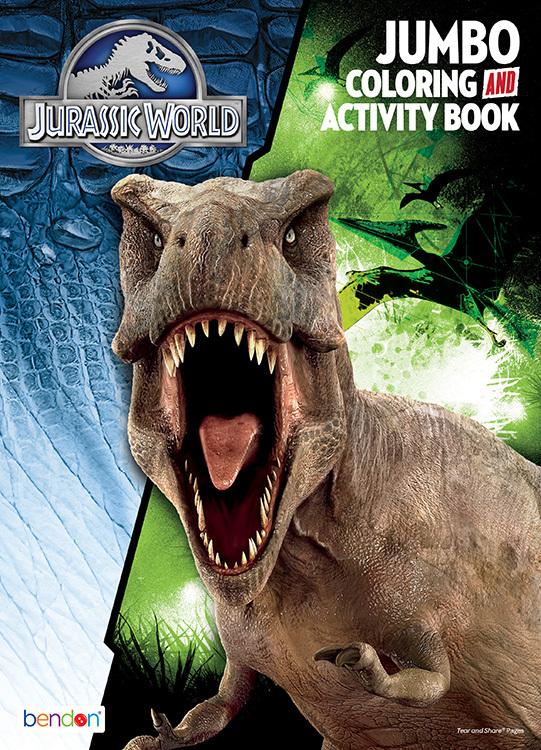 Wholesale Jurassic World Jumbo Coloring Activity Book Sku