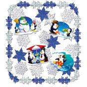 Let It Snow Metallic Dec Kit - 24 pieces
