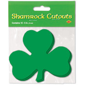 Packaged Printed Shamrock Cutouts - Printed 2 Sides #04833