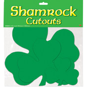 Packaged Printed Shamrock Cutouts - Printed 2 Sides #66833
