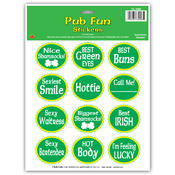 St Patrick Pub Fun Stickers