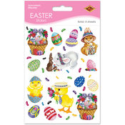 Bunny, Basket & Egg Stickers