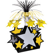 Star Centerpiece - Black, Gold, Silver