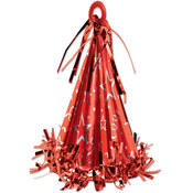 Cone Hat Balloon Weight - Red