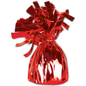 Metallic Wrapped Balloon Weight - Red
