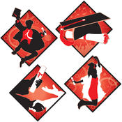 Graduation Cutouts - Printed 2 Sides #99445