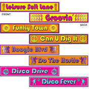 Disco Street Sign Cutouts