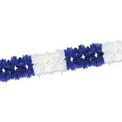 Pageant Garland - Blue & White