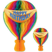 Tissue Hot Air Balloon - Banner Printed 2 Sides - Everyday/Birthday