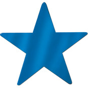 Foil Star Cutout - Blue #B8385