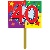 40 Birthday Yard Sign