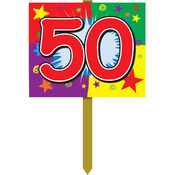 50 Birthday Yard Sign
