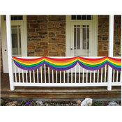 Rainbow Fabric Bunting - with Adjustable Drawstrings