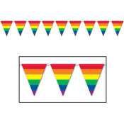 Rainbow Pennant Banner - All-Weather #12775
