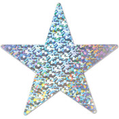 Prismatic Foil Star Cutout - Silver #SP738