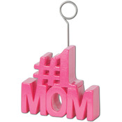 #1 Mom Photo/Balloon Holder