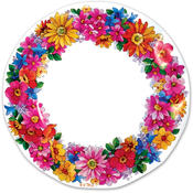 Wholesale Printed Party Plates - Bulk Floral Plates - Discount Patterned Party Plates