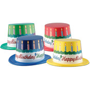Plastic Toppers with Happy Birthday Band