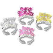 Happy Birthday Tiaras with Fringe