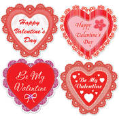 Happy Valentine's Day Lace Heart Cutouts