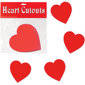 Packaged Printed Heart Cutouts - Printed 2 Sides #04877