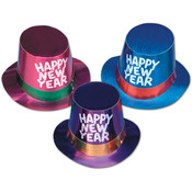 Foil Hi-Hats with Glittered HNY