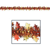 FR Metallic Autumn Leaf Garland