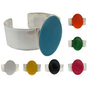 Assorted Color Oval Cuff Bracelet
