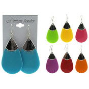 Assorted Color Tear Drop Earring