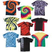 Irregular Youth Tie Dye T-Shirts - Assorted - Large