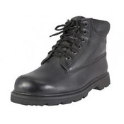 Men's Leather Insulated Work Boots - Black