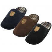 Men's Corduroy Embroidered Slippers