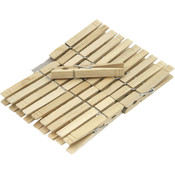 Wood Clothes Pins, 20 Pieces