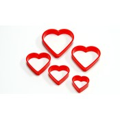 5-Piece Heart Cookie Cutter Set