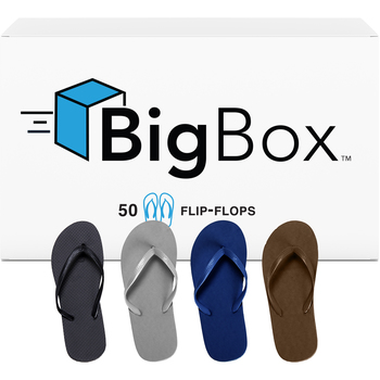 Wholesale wedding supplies bulk wedding favors wholesale wedding big boxtrade mens basic flip flops assorted colors junglespirit Choice Image