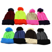 Women's Knt Beanie with Pom Pom