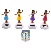 "Solar Powered Hula Girl Jigglers - 4 1/2"" Tall"