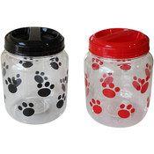 Dog Treat Jar - Black and Red