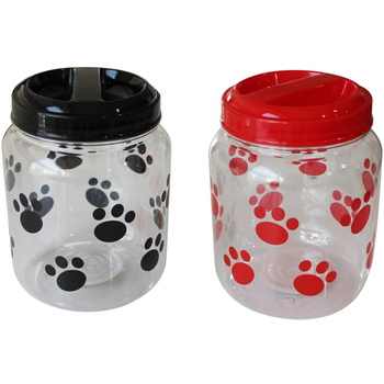 Dog Treat Jar   Black And Red