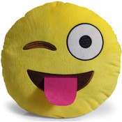 Emoticon Pillow - Winking and Tongue Emoji
