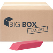 Big Box™ Pink Wedge Erasers - 100/case