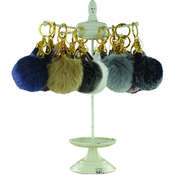 Posh Plush Puff Key Chain