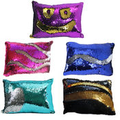 Mermaid Sequin Throw Pillow - Assorted Colors