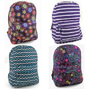 "17""  Backpacks in 4 Assorted Prints"